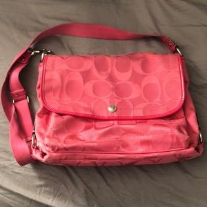 Pink Coach Messenger Bag